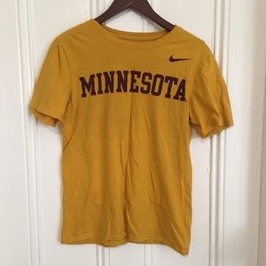 Yellow Nike Minnesota Sports / University T Shirt